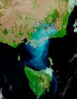 Ciclón tropical 21S cerca de Java
