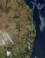 Fires along Australia East Coast
