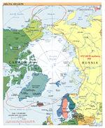 Mapa Politico del Ártico 2007