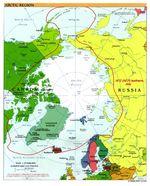 Arctic political map 2000