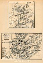 Mapa de la Campaña y Batalla de Waterloo
