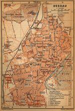 Dessau Map, Germany 1910