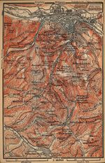 Environs of Eisenach Map, Germany 1910