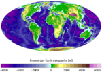 Altimetry and bathymetry of the Earth