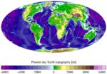Altimetría y batimetría de la Tierra 2007