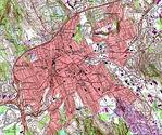 Mapa de Relieve Sombreado de Jericó y Cercanías, Enero
