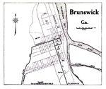 Brunswick City Map, Georgia, United States 1919