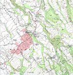 Mapa Topográfico de la Ciudad de Makawao, Hawái, Estados Unidos