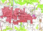 Mapa Topográfico de la Ciudad de West Frankfort, Illinois, Estados Unidos