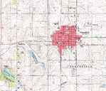 Greenfield Topographic City Map, Iowa, United States