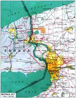 Mapa de la Ciudad de Buffalo, Estados Unidos