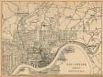 Sewage System Map, Cincinnati, Ohio, United States 1880