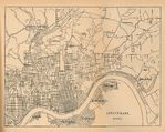 Cincinnati City Map, Ohio, United States 1880