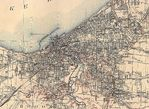 Cleveland City Map, Ohio, United States 1904