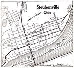 Mapa de la Ciudad de Steubenville, Ohio, Estados Unidos 1920