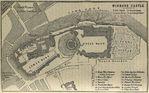 Mapa del Castillo de Windsor en la Región de Londres 1894
