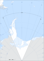 Blanked map of the Argentine Antarctica 2009