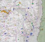 Mapa de Cisjordania (Nablus y Este)