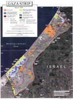 Ortofoto de la Franja de Gaza
