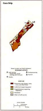 Actividad Económica y del Uso de la Tierra de la Franja de Gaza