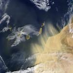 Polvo de Marruecos sobre las Canarias 2004