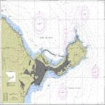 Carta náutica de la Bahía de Ceuta