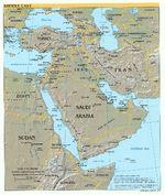 Mapa Físico del Oriente Medio 2004