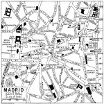 Madrid downtown map 1922