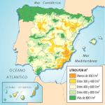 Precipitaciones anuales en España