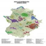 Zonas de protección de aves Extremadura 2005