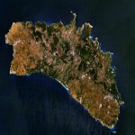 Satellite map of Minorca Island