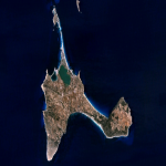 Satellite map of Formentera Island