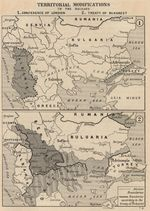 Map of Territorial Modifications in the Balkans 1913