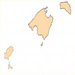 Mapa mudo de las Islas Baleares
