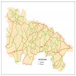 Mapa Político Pequeña Escala de la Isla Norfolk, Australia