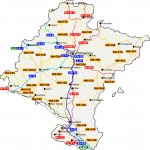 Mapa de carreteras de Navarra 2009