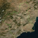 Region of Murcia satellite map