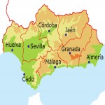 The provinces of Andalusia