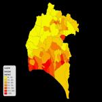 Mapa de Establecimientos educativos medios (colegios) en el Distrito Metropolitano de Quito 2001