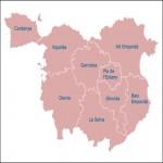 Mapa mudo de la Provincia de Ávila
