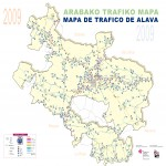 Traffic map of Álava 2009