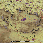Mapa físico de Álava 2008