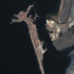 Satellite view of the city of Cadiz