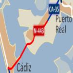 Carretera N-443 por la ciudad de Cádiz 2008