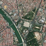 Seville downtown satellite image 2010