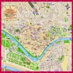 Mapa de Sevilla, España