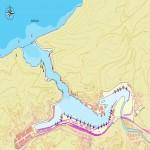 Mapa del puerto de Pasajes