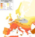 Peste negra en Europa siglo XIV