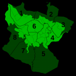 Bilbao Districts with its official numeration 2007