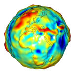 Gravity anomalies of Africa and Europe